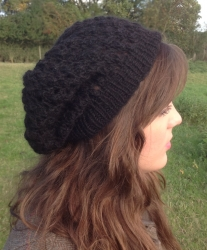 Lacy Beret in Pipit