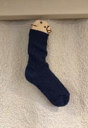 Alpaca Navy Bed Socks 4-7