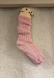 Alpaca Pink Bed Socks 8-10