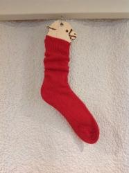 Alpaca Socks Red Plain 4-7