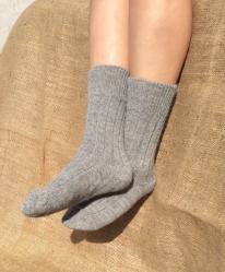 Alpaca Grey Bed Socks 4-7