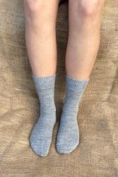 Alpaca Socks Grey Plain 4-7