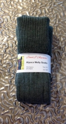 Alpaca Welly Socks Green 11-13