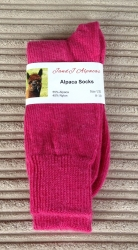 Alpaca Socks Shocking Pink 8-10