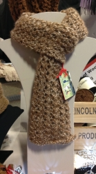 Lacy Scarf in Barbers Pole SOLD BEING REKNITTED