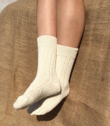 Alpaca Cream Bed Socks 8-10