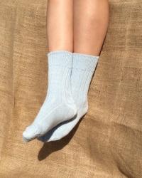 Alpaca Blue Bed Socks 4-7