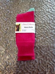 Alpaca Socks Pink & Green Contrast 4-7