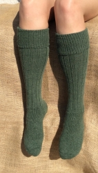 Alpaca Welly Socks Green 8-10