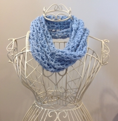 Bridget Cowl in China Blue