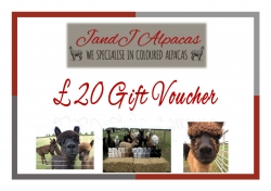 JandJ Alpacas Gift Voucher - £20