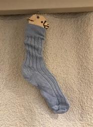Alpaca Bed Socks Blue 8-10