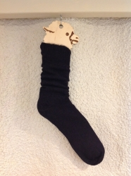 Alpaca Socks Black Plain 8-10