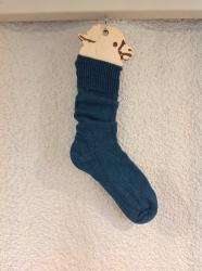Alpaca Socks Teal Plain 4-7
