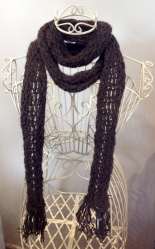 Lacy Tassel Scarf in Bond