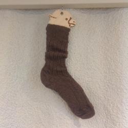 Alpaca Bed Sock Brown 8-10