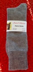 Alpaca Socks Grey Plain 11-13
