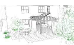 CONTEMPORARY GARDEN ROOM TO GRADE II LISTED BUILDING