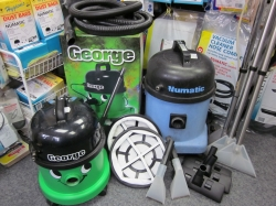 collection of vacuums sold at Barlows