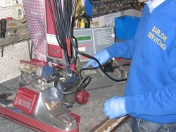 Old Kirby Vacuum getting servicing