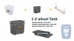 Alloy Wheel Poly Chemical stripping Tank 1-2 wheel Tank