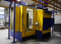Used online powder coating track system