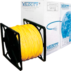 Cat5E Cable U/UTP 26AWG Stranded Patch LS0H 305m Box -Yellow
