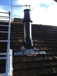 Vertical flue