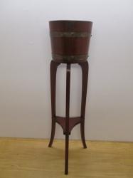 Early 20th Century Brass Bound Jardiniere