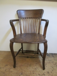 Early 1900s Captains, Side, Office, Desk Chair