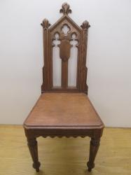 Gothic Oak Chair c1800