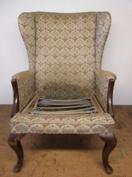 Transformed vintage Parker Knoll wing chair