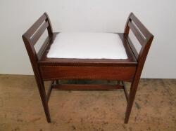 Edwardian c1910 Hinge Top Piano/Dressing Stool