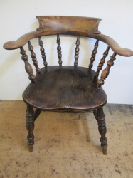 Victorian Captains Bow Chair