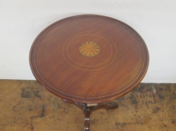Edwardian Dish Topped Tripod Table