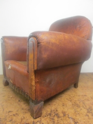 Art Deco club armchair looking fantastic once again