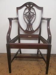 Antique Sheild Back Armchair