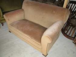 Early 20th Century Drop Arm Sofa