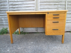 Vintage Oak Veneered Desk