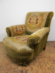 Tired Victorian armchair transformed to look wonderful again
