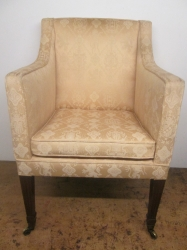 Early 19th Century Mahogany Library Armchair