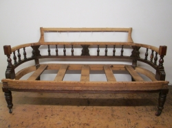 Edwardian Couch fully restored and made better than the original