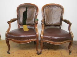 Pair of  French Armchairs Fully Re-Upholstered