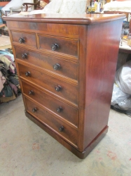 Mid Victorian Chest of Six Drawers