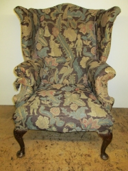 Tartan Upholstered 19th Century Wing Chair, Stunning