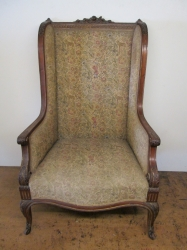 Antique Mahogany & Gilt Armchair
