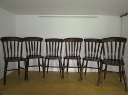 Set of six Windsor  Lath Back Chairs