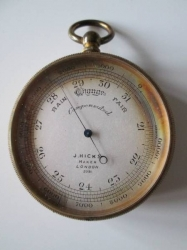 Brass Pocket  Barometer c1861-1884