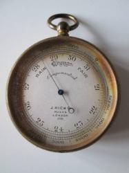 Brass Pocket  Barometer c1861-1884