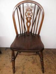 Mid Century Wheel Back Kitchen Chairs